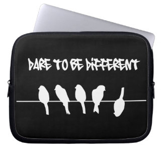 Birds on a wire – dare to be different (black) laptop sleeve