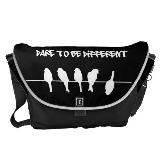 Birds on a wire – dare to be different (black) courier bags