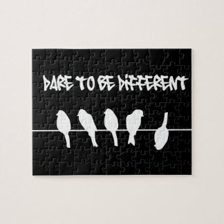 Birds on a wire – dare to be different (black) puzzles