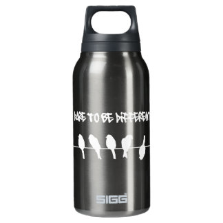 Birds on a wire – dare to be different (black) SIGG thermo 0.3L insulated bottle