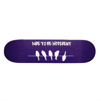 Birds on a wire – dare to be different (black) skate boards