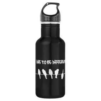 Birds on a wire – dare to be different (black) water bottle