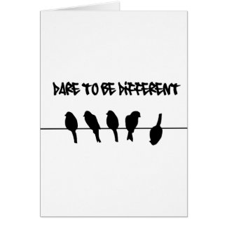 Birds on a wire – dare to be different greeting card