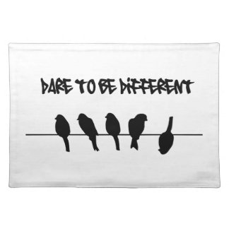 Birds on a wire – dare to be different cloth placemat