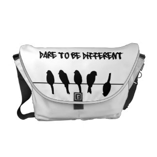 Birds on a wire - dare to be different courier bag