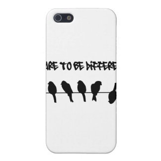 Birds on a wire – dare to be different cover for iPhone SE/5/5s