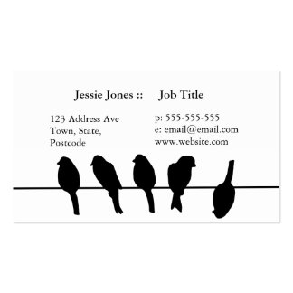 Birds on a wire – dare to be different Double-Sided standard business cards (Pack of 100)