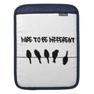 Birds on a wire - Dare to be Different iPad Sleeve