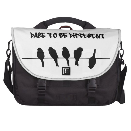 Birds on a wire – dare to be different laptop bag