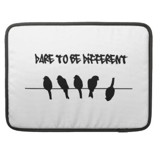 Birds on a wire - Dare to be Different Sleeves For MacBooks
