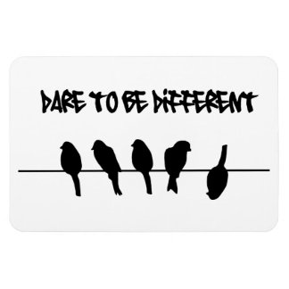 Birds on a wire – dare to be different magnet