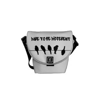 Birds on a wire – dare to be different messenger bag