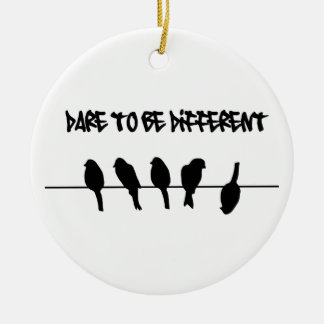 Birds on a wire – dare to be different ornament