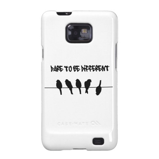 Birds on a wire - dare to be different samsung galaxy SII cover