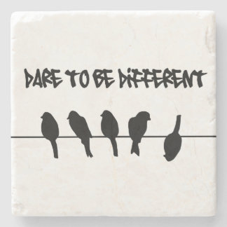 Birds on a wire – dare to be different stone beverage coaster
