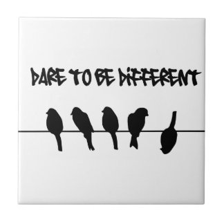 Birds on a wire – dare to be different tile