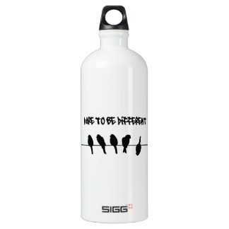 Birds on a wire – dare to be different water bottle