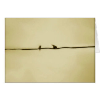 Birds on A Wire in Autumn Card