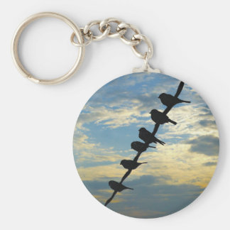 Birds on a Wire Keychain