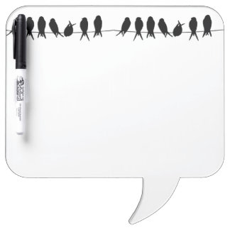 Birds on a wire on editable background colour Dry-Erase board