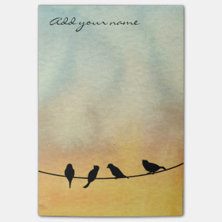 Birds on a wire post-it® notes