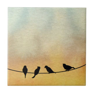 Birds on a wire tiles