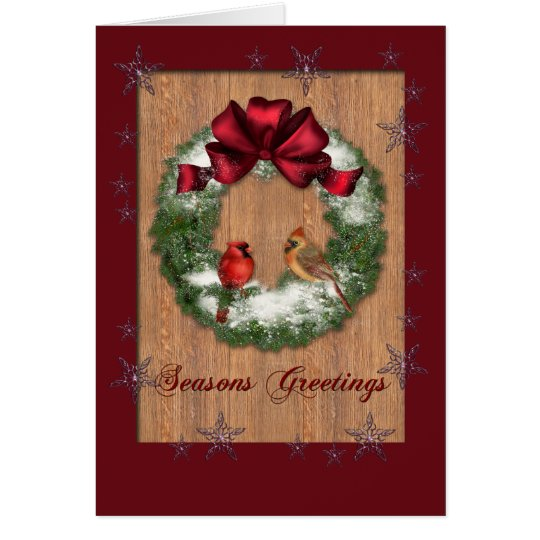 Birds on a Wreath Card