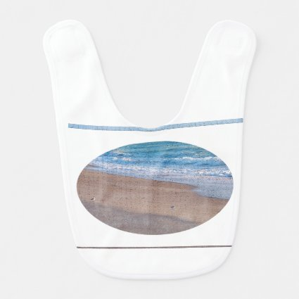birds on beach crackle sea shore florida bibs