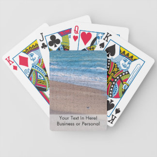 birds on beach crackle sea shore florida bicycle playing cards