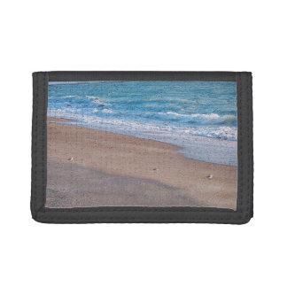 birds on beach crackle sea shore florida wallet