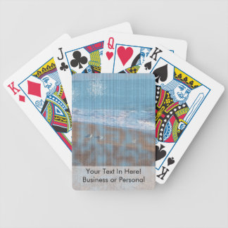 birds on beach grunged stripes shore image bicycle playing cards