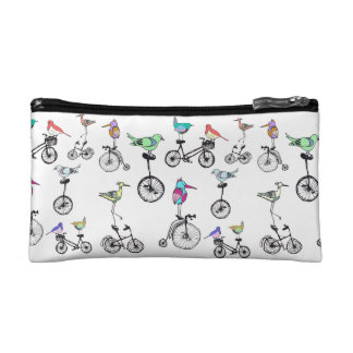 Birds on Bikes cosmetic bag