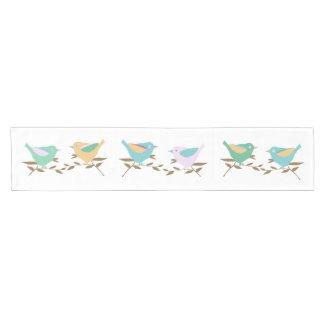 Birds on branches short table runner