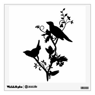 Birds on Branches Wall Decals