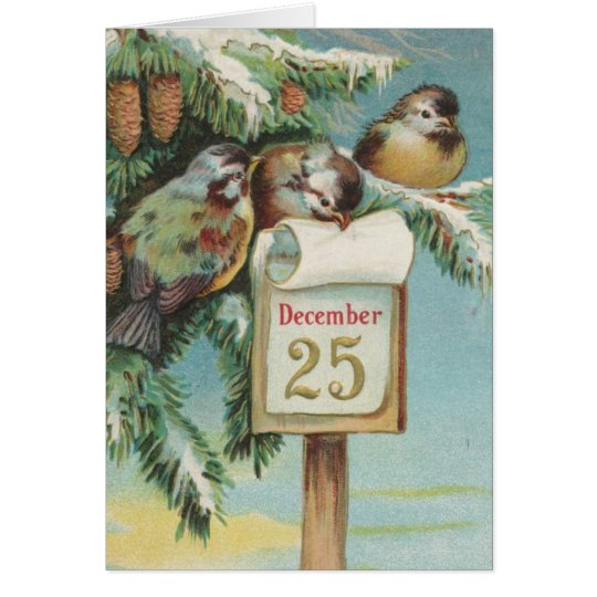 Birds on Decemeber 25th Card