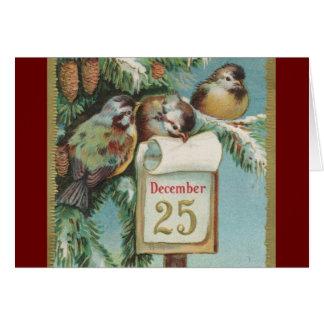 Birds on Decemeber 25th Card