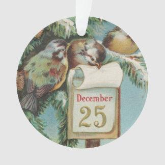 Birds on Decemeber 25th Ornament