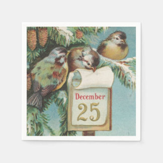 Birds on Decemeber 25th Paper Napkin