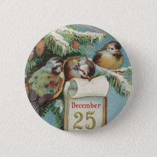 Birds on Decemeber 25th Pinback Button
