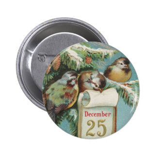 Birds on Decemeber 25th Pinback Button
