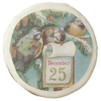 Birds on Decemeber 25th Sugar Cookie
