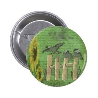 Birds on Fence Button