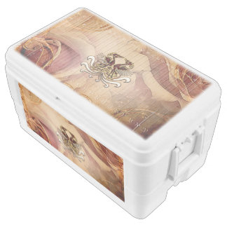 Birds on floral background chest cooler
