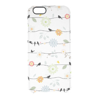 Birds on Floral Vines Clear iPhone 6/6S Case