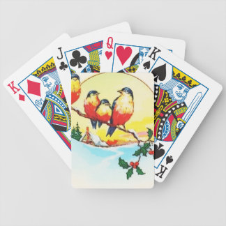 BIRDS ON HOLLY BICYCLE PLAYING CARDS