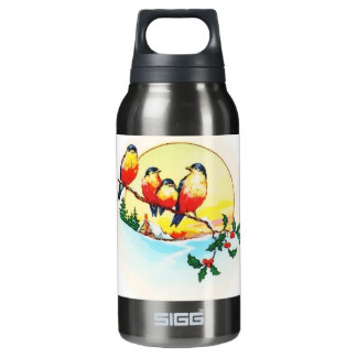 BIRDS ON HOLLY INSULATED WATER BOTTLE
