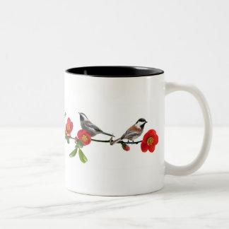 Birds on Quince Coffee Mug