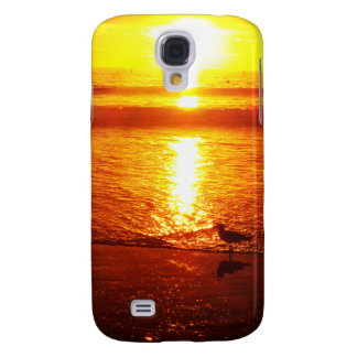 Birds on Santa Monica Beach at Sunset. Galaxy S4 Case