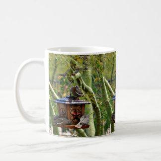 Birds on Texas Feeder Coffee Cup