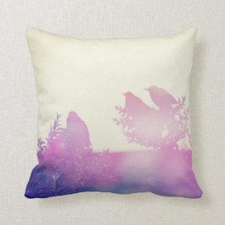 Birds on the bench, organic pillow